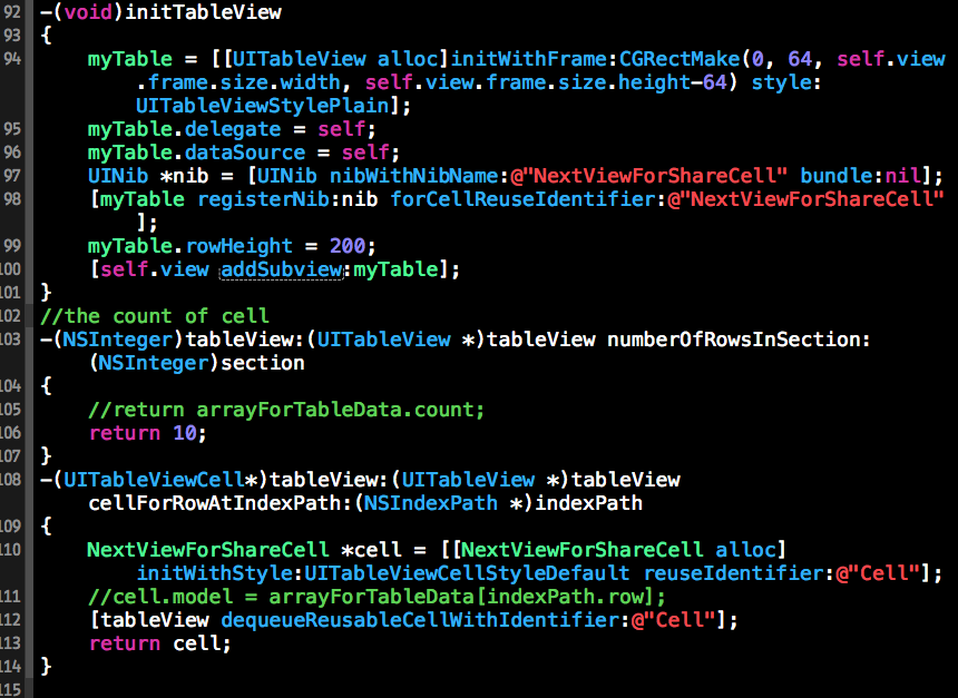 Xcode 6 xib ios cocoachina cocoachina for Xcode 6 tableview