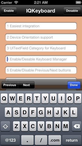 IQKeyboardManager